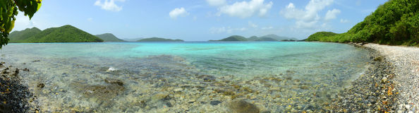 St. John Panorama, US Virgin Islands, USA Royalty Free Stock Images