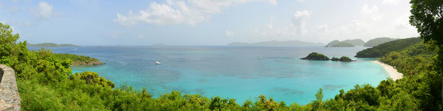 St. John Panorama, US Virgin Islands, USA Royalty Free Stock Photo