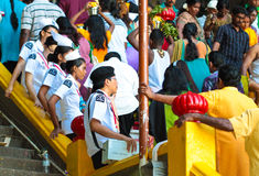 St. John personnel on standby at Batu Cave during Thaipusam 2013 Stock Photos