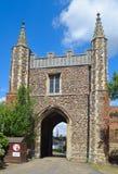 St John ` s Abbey Gate Colchester Arkivfoton
