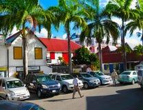 St John ` s, Antigua, Barbuda i Luty, - 07, 2013: Śródmieście świętego John ` s Obraz Stock