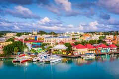 St. John`s, Antigua and Barbuda stock photography