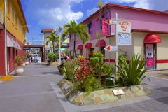 St John`s, Antigua. Streets  and shopping of St John`s, Antigua stock photos