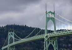 St. John's Bridge in Portland Oregon, USA. Stock Image