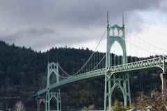 St. John's Bridge in Portland Oregon, USA. Stock Photography