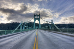 St. John's Bridge in Portland Oregon, USA. Royalty Free Stock Photography