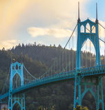 St. John's Bridge in Portland Oregon, USA. Beautiful Image of Saint John's Bridge in Portland, Oregon Royalty Free Stock Photos