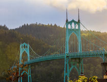 St. John's Bridge in Portland Oregon, USA. Beautiful Image of Saint John's Bridge in Portland, Oregon Royalty Free Stock Images