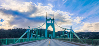 St. John's Bridge in Portland Oregon, USA. Beautiful Image of Saint John's Bridge in Portland, Oregon Stock Photos