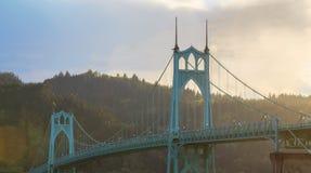 St. John's Bridge in Portland Oregon, USA Royalty Free Stock Photos