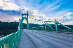St. John's Bridge in Portland Oregon, USA Royalty Free Stock Photo