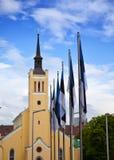 St. John's Church, neogothic style, 1860 on Freedom Square. Tallinn, Estonia. Royalty Free Stock Photos