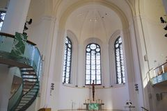 St John`s Church, Protestant Church, Dusseldorf, Germany royalty free stock photos