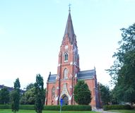 St John`s Church in Malmo. It is the St John`s Church, which located near the Triangeln station in Malmo, Sweden. Jugend style Royalty Free Stock Photo