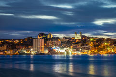 St John`s cityscape at the evening, Newfoundland, Canada Royalty Free Stock Image