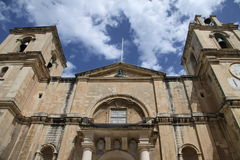 St. john's co-cathedral. St. john's co-catheral in valletta,malta where one can find one of the original paintings of the famous caravaggio Royalty Free Stock Images