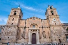 St John & x27; s-Co-domkyrka i Valletta, Malta royaltyfri fotografi