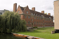 St John's College, Cambridge. View of St John's College on the banks of the River Cam.  Part of the University of Cambridge Stock Photography