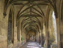 St John`s College in Cambridge. Gothic porch Stock Photo