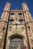 St. John's College Cambridge. The impressive gatehouse at St John's College in Cambridge, UK Stock Images