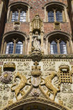St. John's College Cambridge. The impressively sculptured gatehouse at St John's College in Cambridge, UK Royalty Free Stock Photos