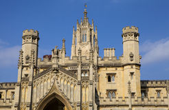 St. John's College in Cambridge. The magnificent architecture of St. John's College in Cambridge, UK Royalty Free Stock Photography