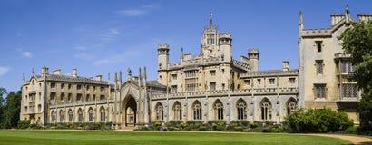 St. John's College in Cambridge. A panoramic view of the historic St. John's College in Cambridge, UK Stock Photo