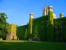 St. John's College, Cambridge University. Ivy-clad walls, towers Stock Photos