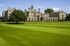 St. John's College in Cambridge. A view of the historic St. John's College in Cambridge, UK Royalty Free Stock Photo