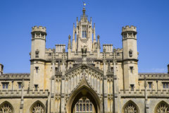 St. John's College in Cambridge. A view of the historic St. John's College in Cambridge, UK Stock Images
