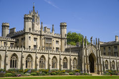 St. John's College in Cambridge. A view of the historic St. John's College in Cambridge, UK Royalty Free Stock Photos