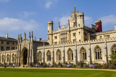 St. John's College in Cambridge. A view of the magnificent St. John's College in Cambridge, UK Stock Photos