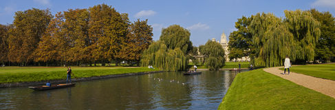 St. John's College and the River Cam in Cambridge Royalty Free Stock Images