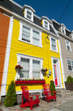 St John's Colourful Clapboard Houses. Brightly painted clapboard houses in the city of St John's, Newfoundland, Canada Stock Photography