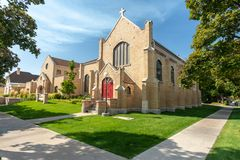 Episcopal church in Logan, Utah royalty free stock photography
