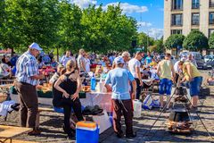 Baja, Bács-Kiskun, Hungary. St. John`s festival in Baja. On the occasion of St. John`s, there is a competition between different neighborhoods who can cook the Royalty Free Stock Photography