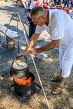 Baja, Bács-Kiskun, Hungary. St. John`s festival in Baja. On the occasion of St. John`s, there is a competition between different neighborhoods who can cook the Royalty Free Stock Images