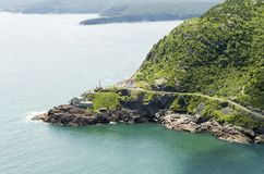 St. John`s Harbour Entrance. Guarded by a fort centuries old Royalty Free Stock Images