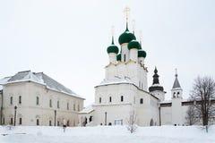 St John ` s katedra w Kremlin Rosja zima Zdjęcia Stock