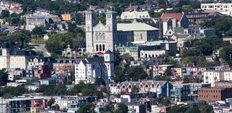 Cityscape of St. John`s Newfoundland stock image
