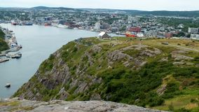 St. John's, NFLD. St. John's from Signal Hill in Newfoundland, Canada Royalty Free Stock Images