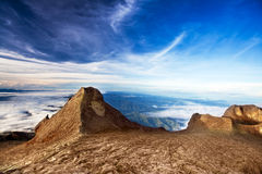 St. John's peak at Mount Kinabalu Royalty Free Stock Images