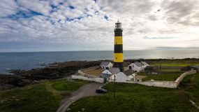 St John`s Point Lighthouse. county Down. Northern Ireland. stock photography