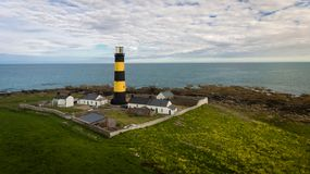 St John`s Point Lighthouse. county Down. Northern Ireland. stock image