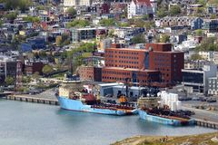 St John's port, Newfoundland, Canada. Royalty Free Stock Photo