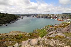 St John's port, Newfoundland, Canada. Stock Images