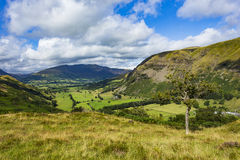 St John& x27;s in the Vale. From Wren Crag, Lake District National Park, Cumbria, England Stock Photography