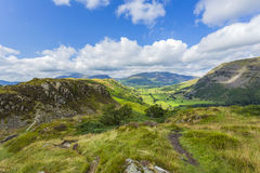 St John& x27;s in the Vale. From Wren Crag, Lake District National Park, Cumbria, England Royalty Free Stock Photos