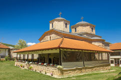 St John - Slepce kloster, Demir Hisar, Makedonien Royaltyfri Fotografi