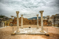 St John Tomb, Turkey. The Basilica of St. John (St. Jean Aniti) was a great church in Ephesus constructed by Emperor Justinian in the 6th century. It stands over Royalty Free Stock Photos